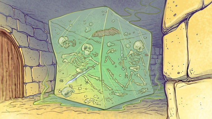 Final Art: Jelly Cube, hard to scout, designed to trap pesky rogues.