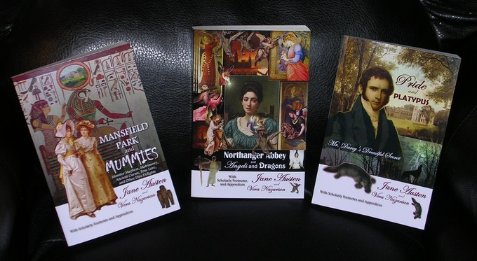 Illustrated Trade Paperback Editions of  the current novels from my hilarious Supernatural Jane Austen Series!