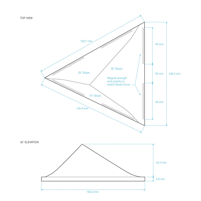 FACET pyramid iPad stand by iLoveHandles —Kickstarter