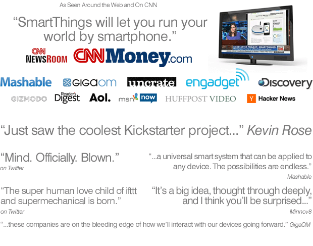 SmartThings: Make Your World Smarter by SmartThings — Kickstarter
