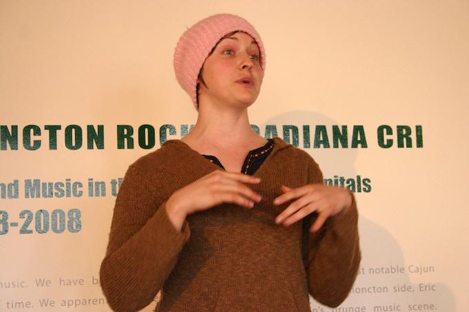 Performance poet Bonny McDonald