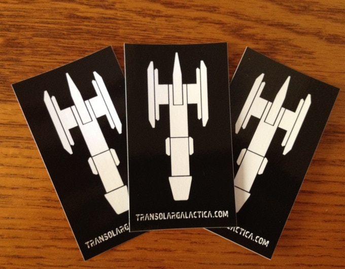Stickers! Slap one of these on the bumper of your X-170A Dual-Thruster Space Cruiser and be the baddest muthaf*cka in the Galaxy!