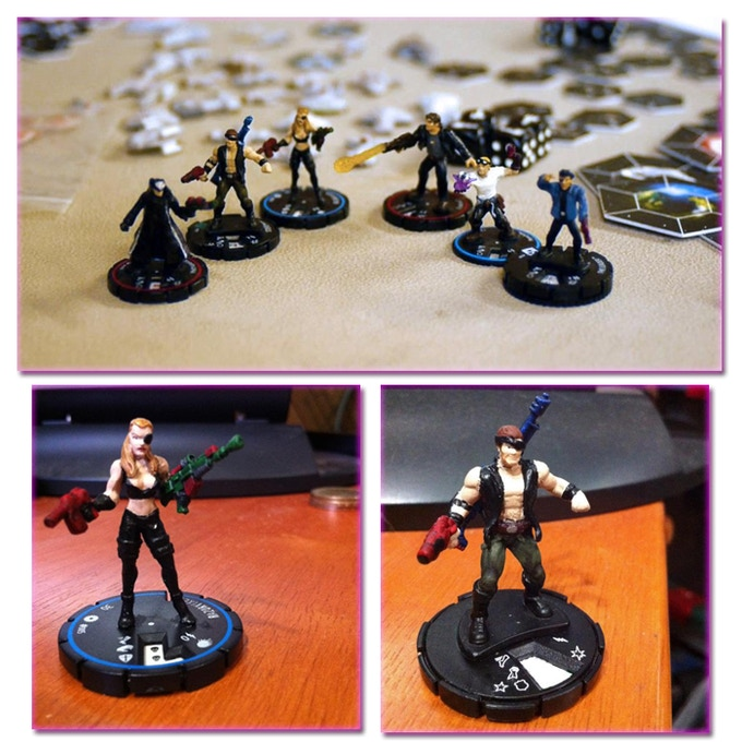 Now you can hold your favorite characters in the palm of your hand! Individually hand-crafted, assembled, painted, and donated to our Kickstarter by Woody Arnold, this set of Transolar Galactica figures is a one of a kind item.