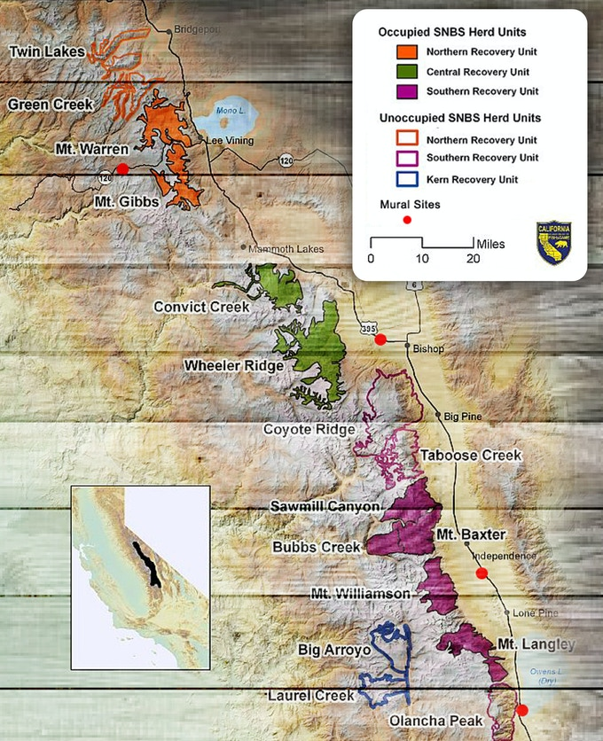 map courtesy of the California Department of Fish and Game