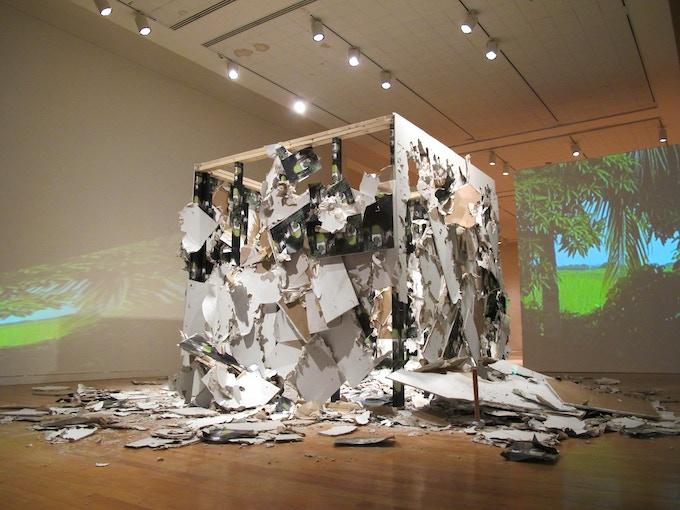 Pri Blan, 2011, 800sq ft, Mixed Media Installation, Aidekman Art Center, Medford, MA
