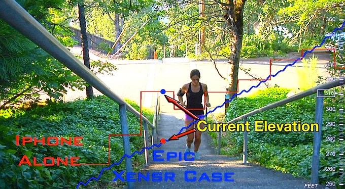 XensrCase provides precise altitude data for even simple sports like running