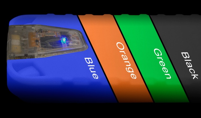 XensrCases are available in Blue, Orange, Green and Black.