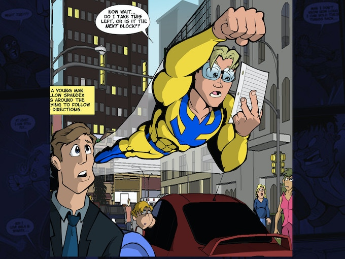 Granted, most silver-age heroes never had to ask for directions...