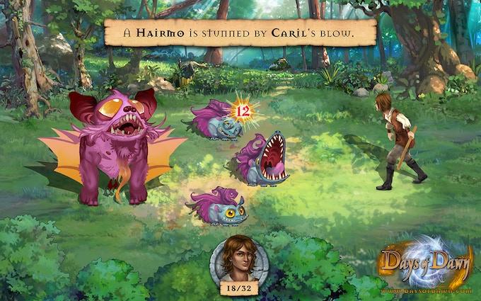 Battle original creatures in many unique battle scenes