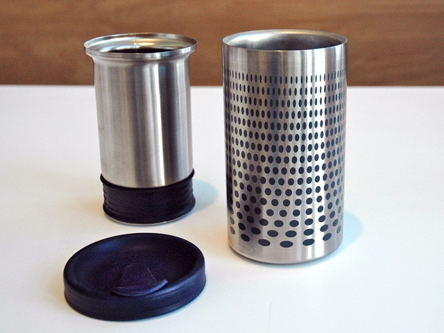 Insulated Outer Vessel, Nesting Inner Filter, To-Go Lid