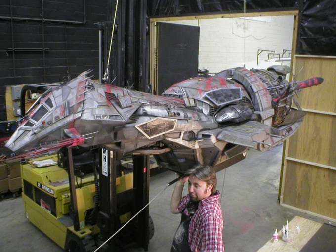 Greg Boettcher helps transport another one of his projects, The Serenity.