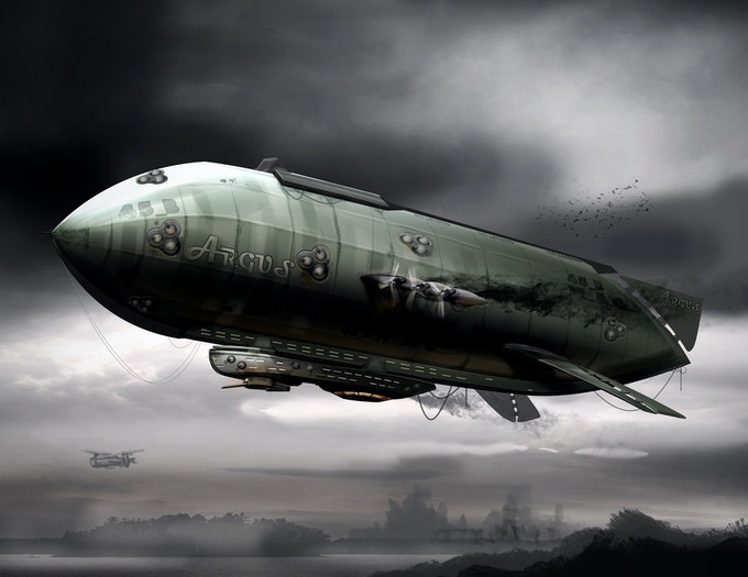 Airship Concept Art - One of Various Concept Art Choices