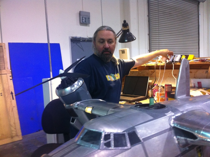 Greg Boettcher works on The Valiant, our first major miniature!