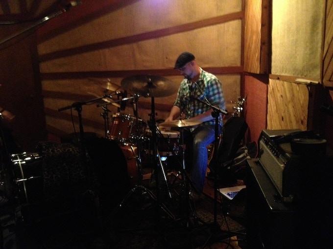 Every gig, every session, I'm always amazed-Eli Hludzik on drums.