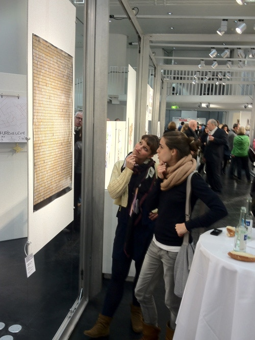 The 2012 Typographic Wall Calendar on display at the Gregor Award in Stuttgart.