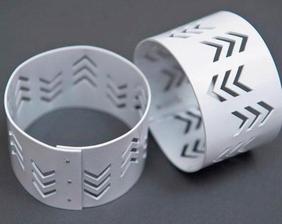 Power Coated Cuff Bracelet by Raleigh N.C. Designer, S. Tector Metals