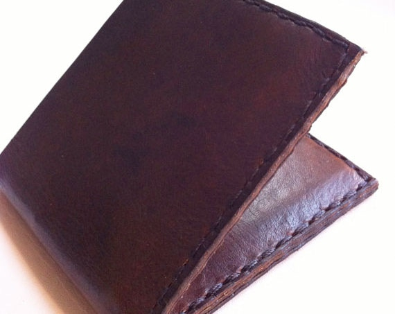 Leather wallet by Asheville Based Company Fleet Co