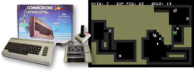 "Original C64 version of ""Sword of Fargoal"""