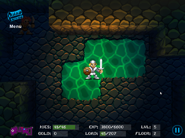 All new level types and dungeon textures — like this watery world — found in Fargoal 2