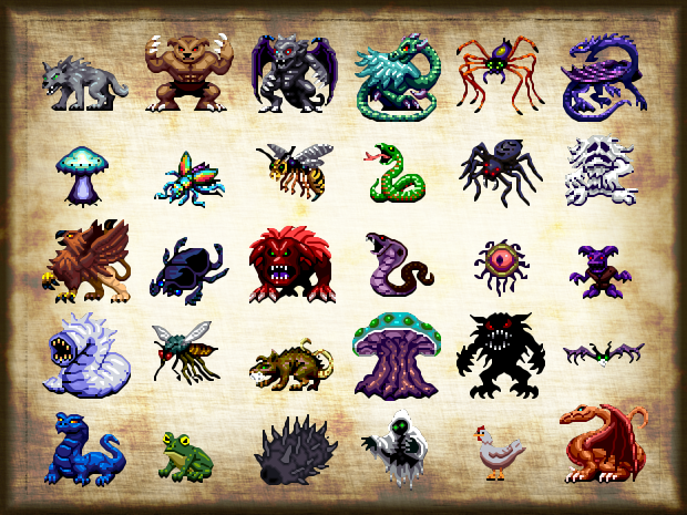 Many new monster types and character classes and more to come…
