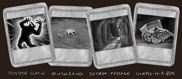 """All new """"Action Cards"""" to save and re-live your adventures! (concept art)"""
