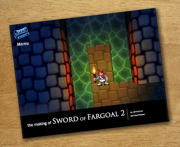"Concept cover art for ""The making of: Sword of Fargoal 2"" book (Kickstarter exclusive)"