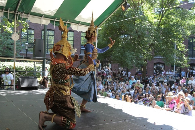 Angkor Dance Troupe performs at 2011 Lowell Folk Festival
