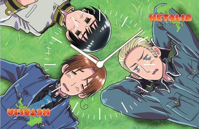 """""""HETALIA AXIS POWERS"""" Anime AboutFaceClock. Design pending approval. © 2008 HIDEKAZ HIMARUYA,GENTOSHA COMICS/HETALIA PROJECT Licensed by FUNimation® Productions, Ltd. All Rights Reserved."""