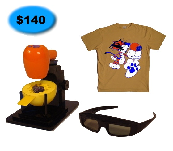 Tiger Cam System with one pair 3D Glasses + T Shirt