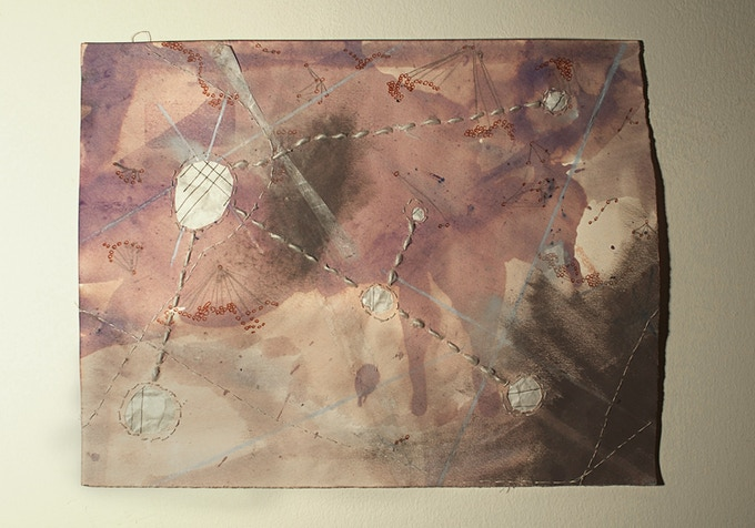 """""""Compass Points"""" Original art work by Martha Tuttle '11 ($150 and $250 level). Each piece will vary slightly."""