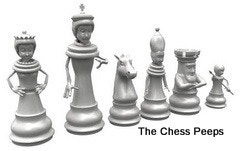 Chess Peeps -- My unique chess piece design concept, modeled in 3D CAD.