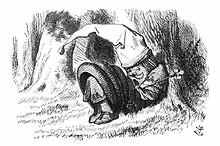 "The Red King asleep, by John Tenniel for ""Through the Looking Glass"" by Lewis Carroll [Alice in Wonderland] (illustrated edition published in 1898)"