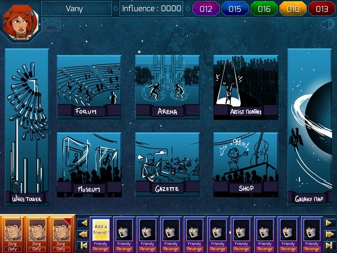 Main Interface : Armogaste, the Songmasters school