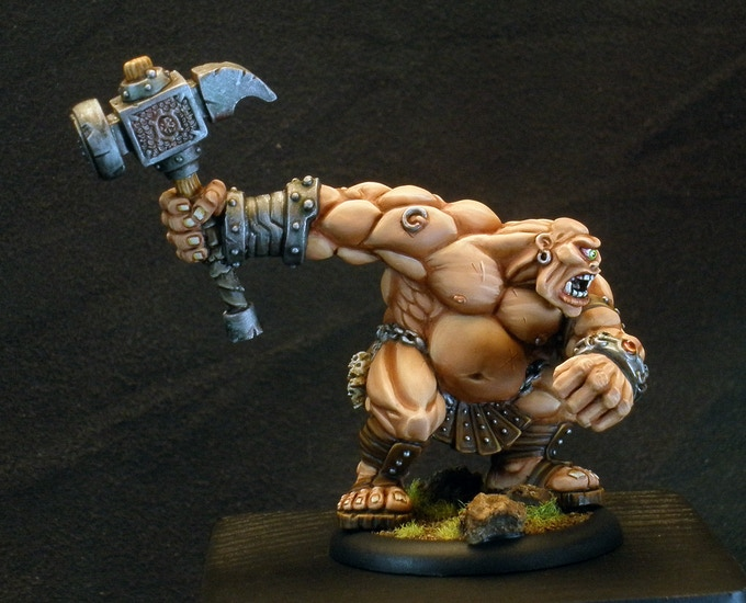 A painted picture of the Cyclops that comes in the Greek Quickstart box set.