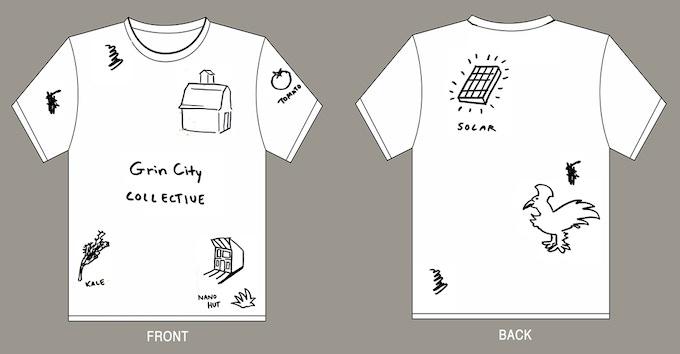 T-shirt design #2 Grin City Landscape (all size available) $25 level