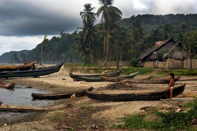 A Kuna Village, taken in the San Blas islands of Panama.