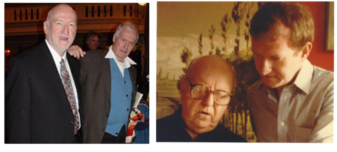 Gerald with Ned Rorem (photograph courtesy of Theaterscene.net), Gerald with Virgil Thomson
