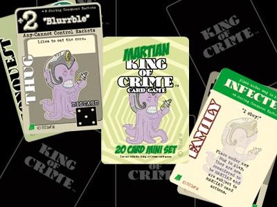 Martian King of Crime mini set samples.