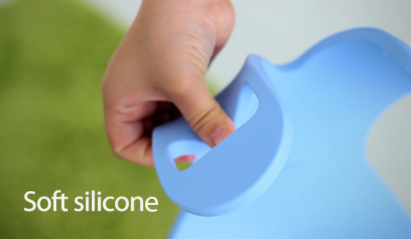 Manatee is made of large, soft silicone. It gently yet firmly holds your precious iPad without causing any damage.
