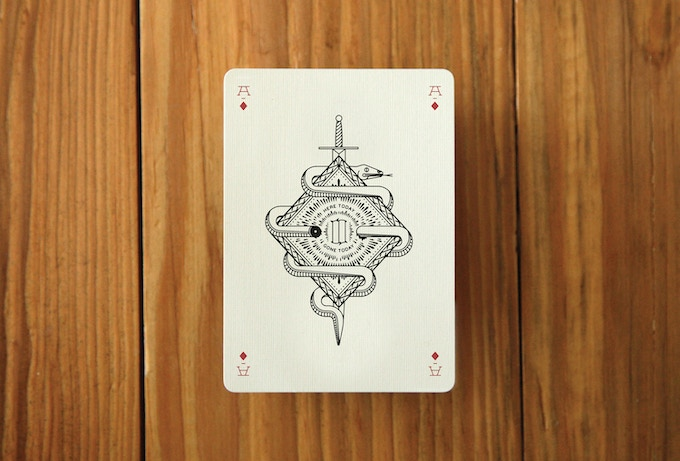 A mock up of an Ace card. The Ace of Diamonds.
