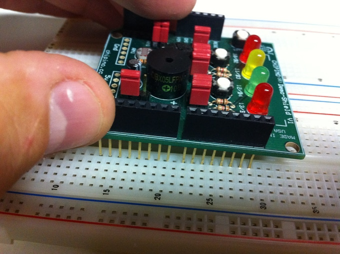 Shield won't line up with breadboard