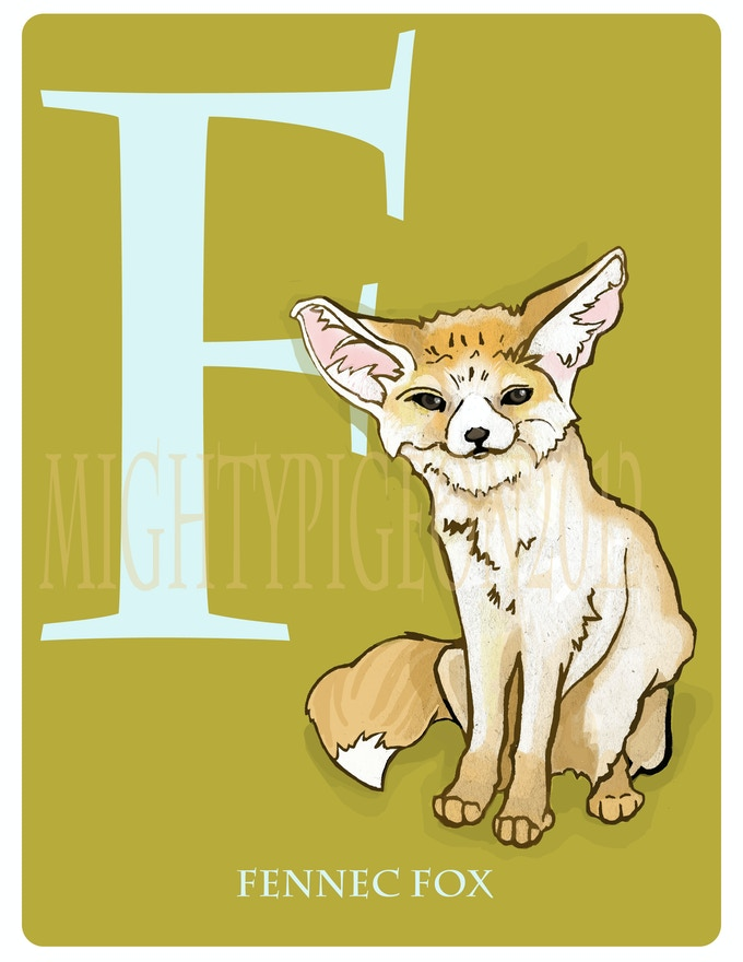 F is for Fennec Fox