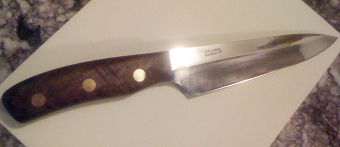 "6"" Mini chef knife by Christopher Harth"