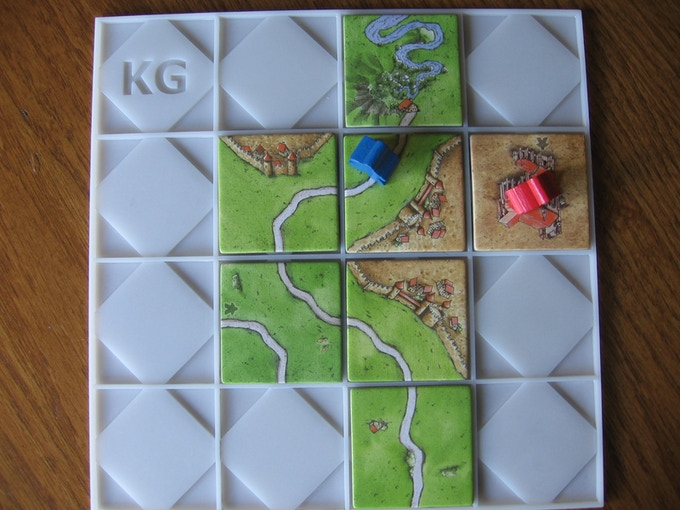 Manufacturer's prototype with Carcassonne