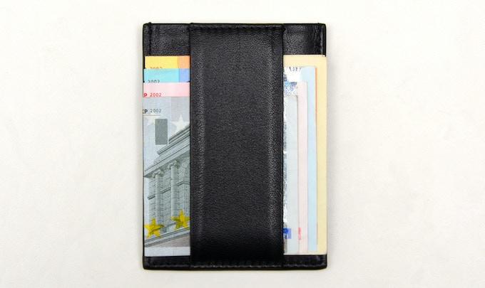 * CashStrap™ shown holding Euro denominations: 50, 20, 10, 5