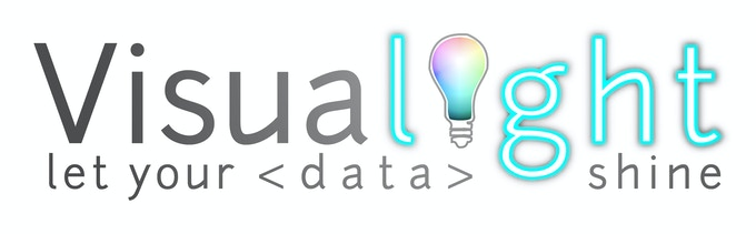"Visualight Logo with ""Bright Ideas"" bulb"