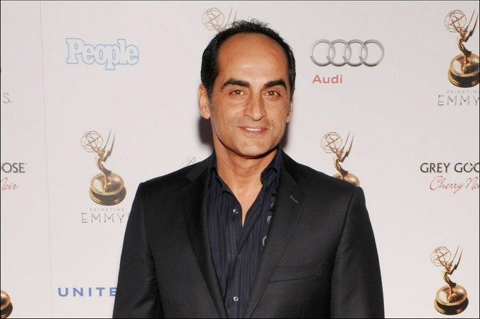 "Navid at the Emmy party for ""Homeland"""