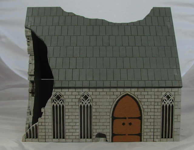 25mm Gothic Ruined Painted