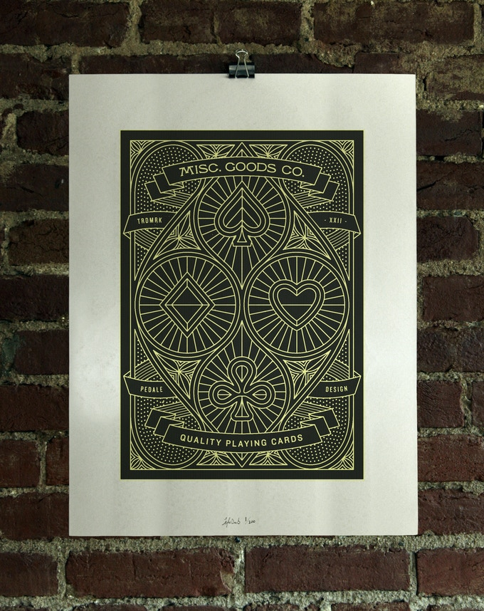 2 Color Screen Printed Poster.