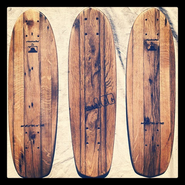 Vintage Roots Mini deck (antique oak barn-wood faces with bamboo core)